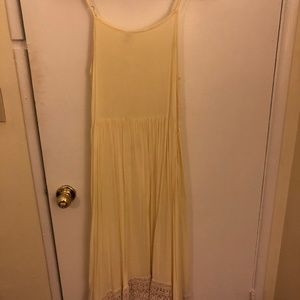 Intimately by Free People Yellow Lace Trim Dress